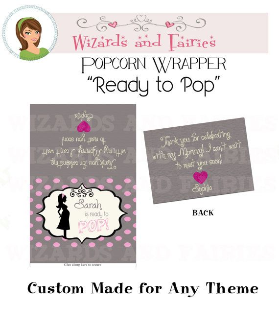 Baby Shower Favormicrowave Popcorn Wrapper Ready To Pop