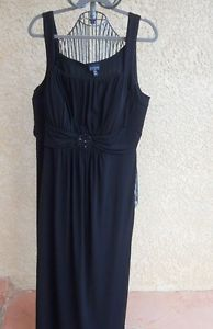 En Focus 20W Long Black Dress Sleeveless Beaded Embellished Formal Evening http://www.ebay.com/usr/prettywoman-2012