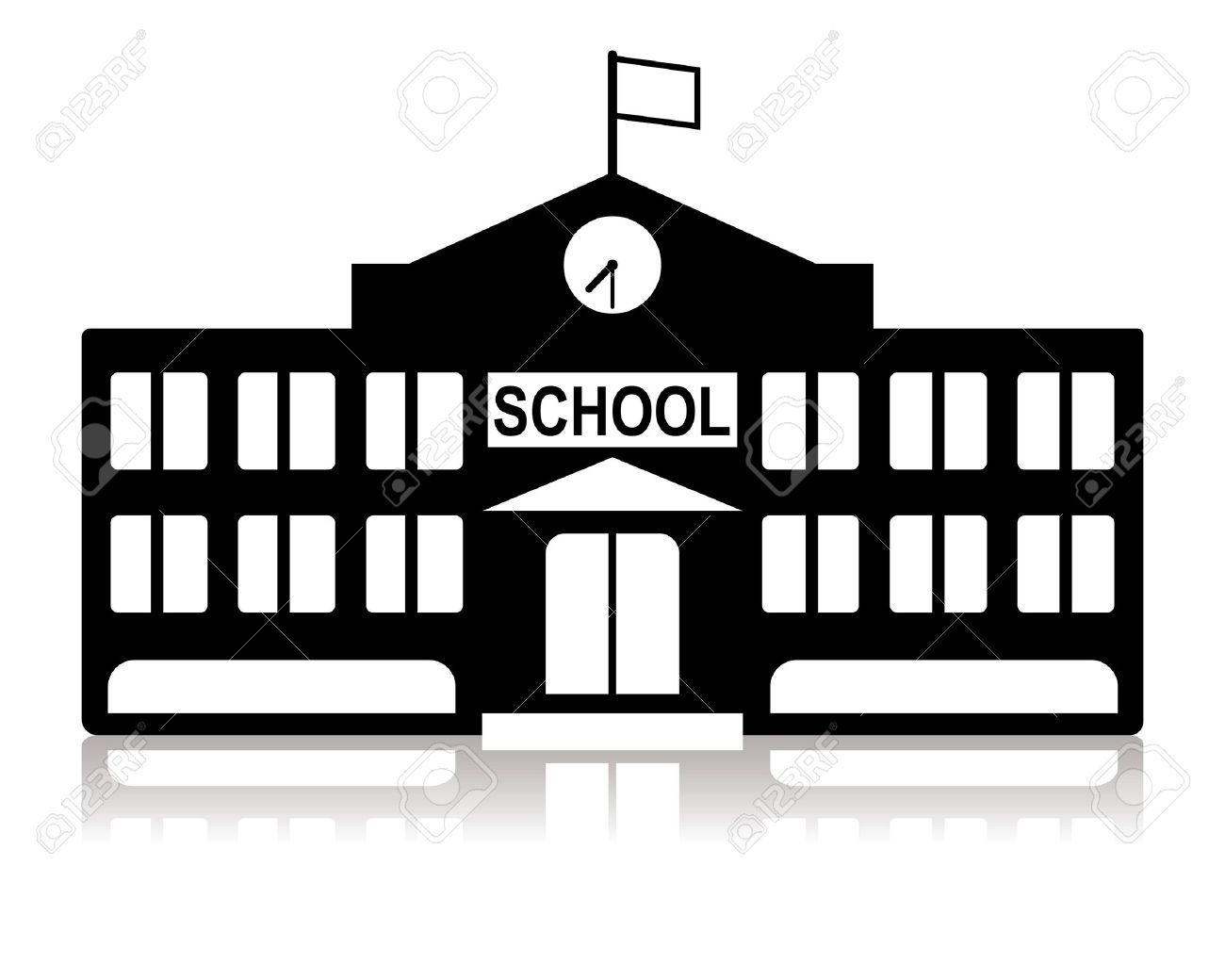 library building clipart black and white - Google Search ...