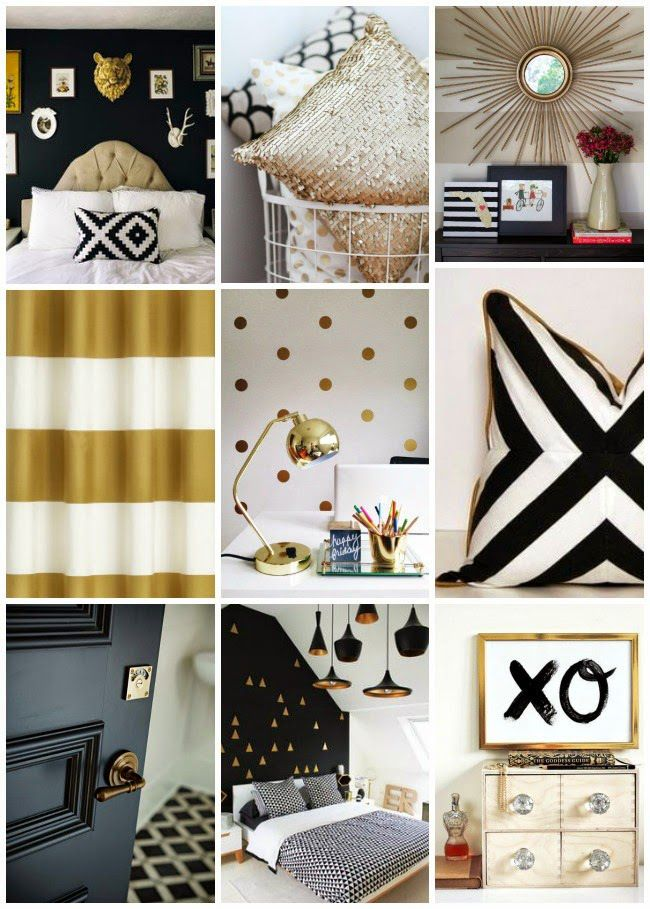 Black 2Bwhite 2Band 2Bgold 2Bhome 2Binspiration 650×909. Gold Color  SchemeColour SchemesBedroom ...