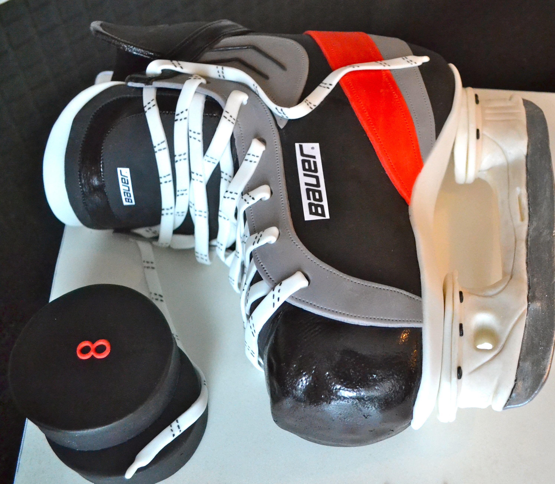 boys16thbirthdayhockeycakeideas Hockey Skate Cake Birthday