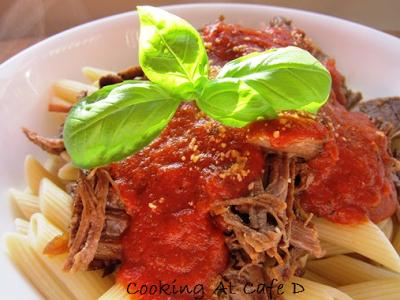Beef Ragu - Tasty Leftovers (Braised beef, marinara sauce, pasta)