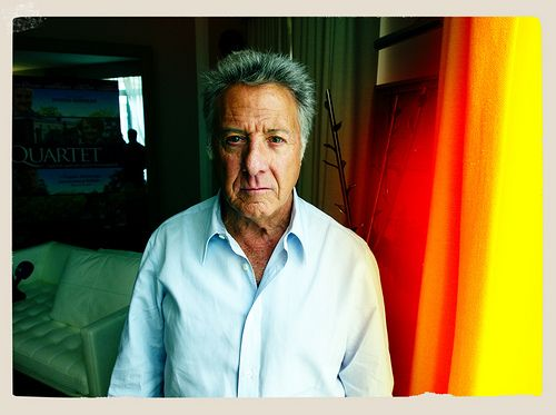 Crédit Photo : Nikos Aliagas - Mr Dustin Hoffman in front of my camera in Paris