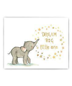 Elephant Dream Big Little One Childrens Art Biggest Elephant Baby Quotes
