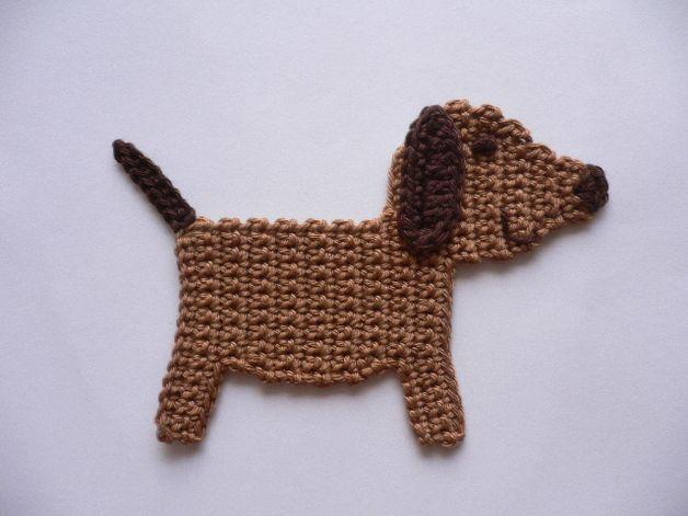 Hündchen Häkelapplikation Projekt Pinterest Crochet Crochet