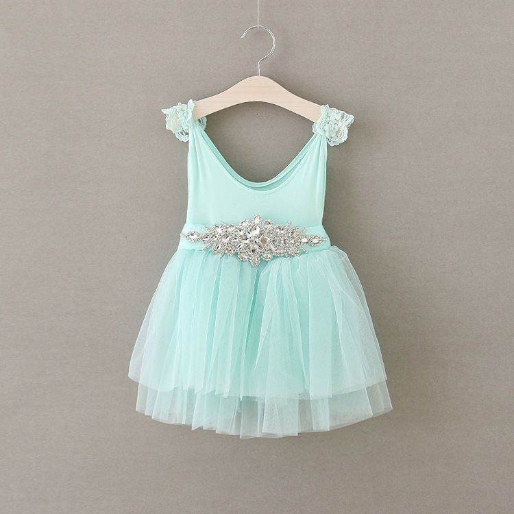 Baby Toddler Children Girls Clothes Lace Party Birthday TUTU Dress ...