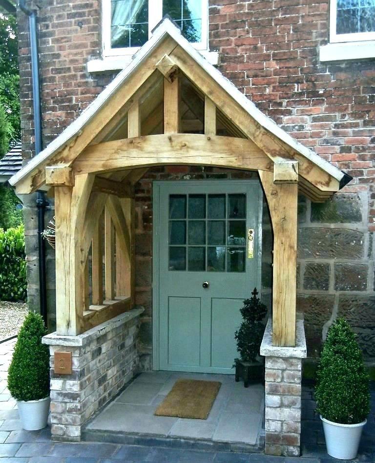 Door Overhang Build A Front Door Overhang Plans How To Wood Awning