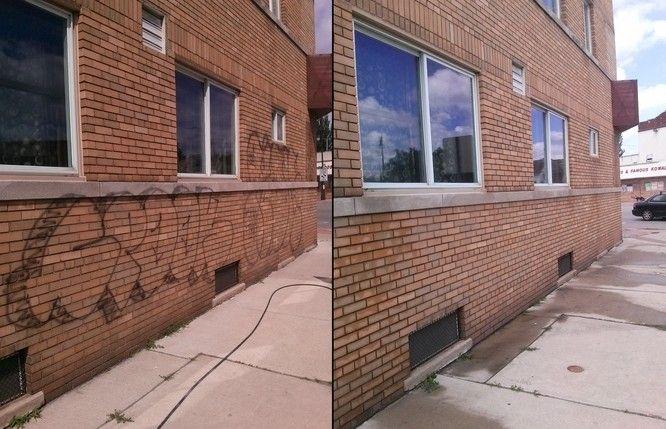 Black Spray Paint Graffiti Removal In Detroit Graffiti