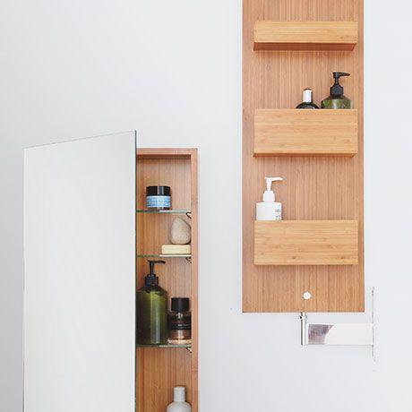 Drehbarer 140cm Spiegelschrank - alt_image_three bad Pinterest - badezimmer accessoires holz