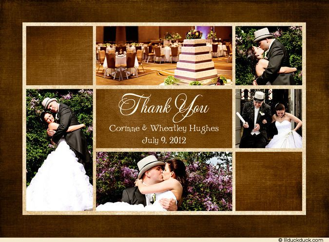 Wedding Invitation Collage Announcement Thank You Or