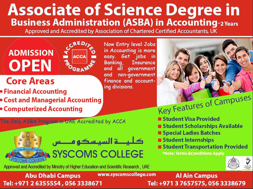 An Associate of Science Degree in Business Administration