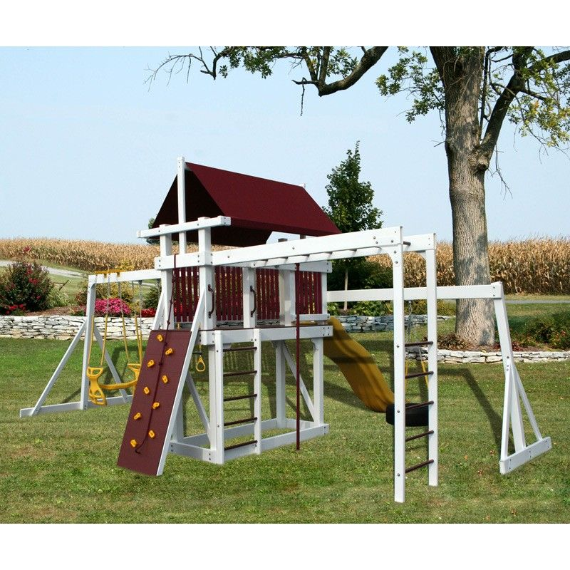 Amish Made Jungle Gym Quest Swing Set In 2019