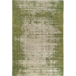 Photo of benuta flat woven carpet Tosca green 155×235 cm – vintage carpet in the used look benuta