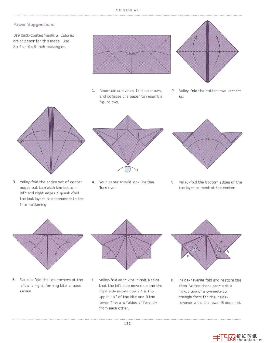 Origami Flowers Diagram On How To Fold A Simple Orchid Flower