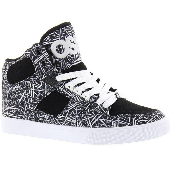 Osiris NYC 83 VLC Men's Black Skate 9 M ($66) ❤ liked on Polyvore featuring men's fashion, men's shoes, men's sneakers, black, mens shoes, mens black high tops, mens high top skate shoes, mens black skate shoes and mens black hi top sneakers