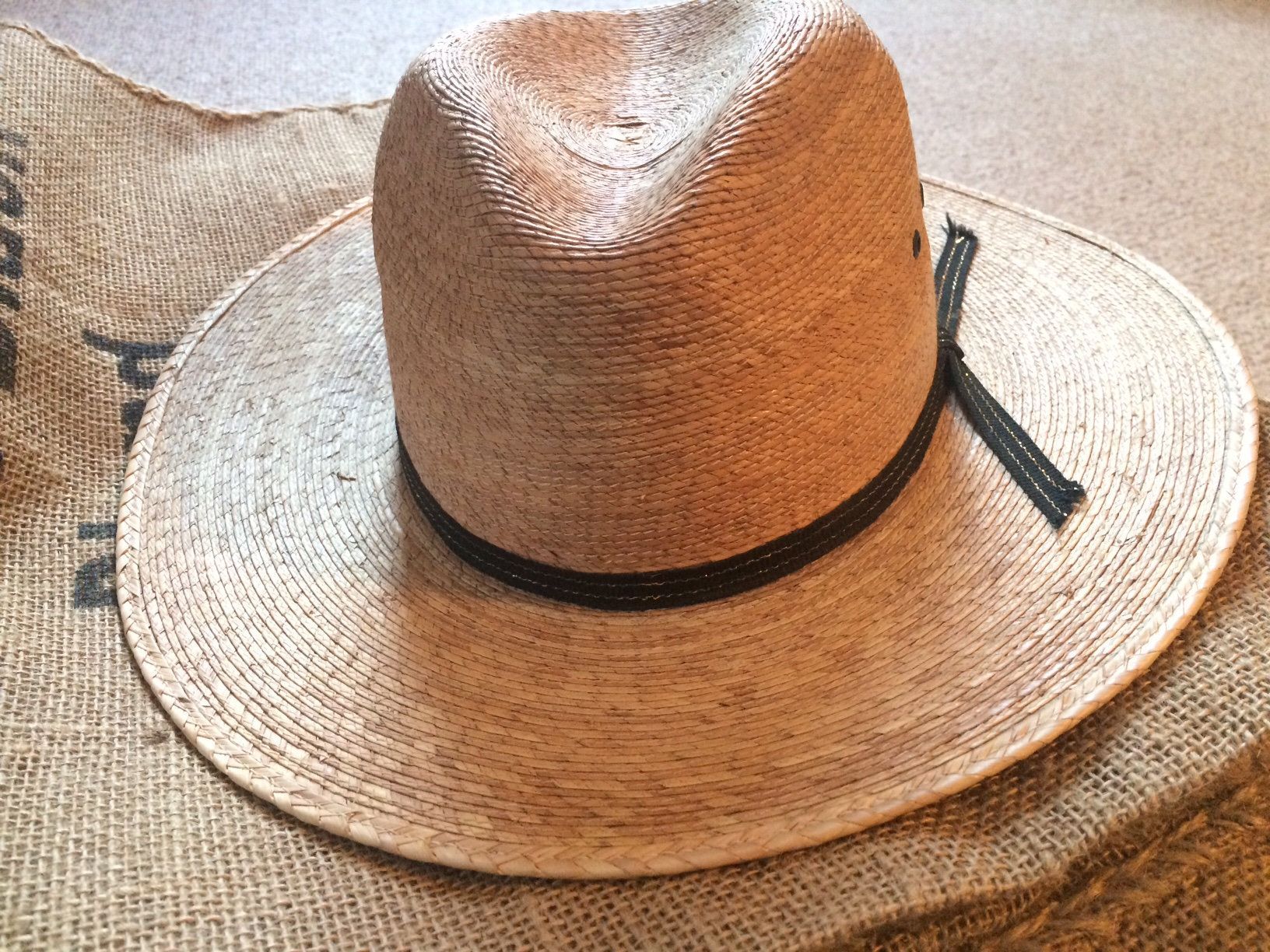 Vintage Mexico Hat Tightly Woven Straw Hat Made In Mexico Etsy Hat Making Straw Hat Hats