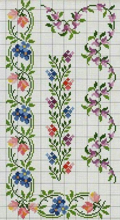 Arabesco Flor Toalhastrilhos Pinterest Craft And Cross Stitch