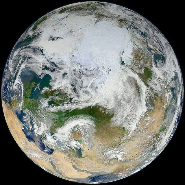 Earth S North Pole As Seen From Space Nasa Earth Earth From Space Earth Images