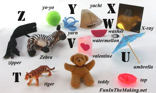 Toys That Start With B : Letter jar objects t u v w y z alphabet ok pinterest