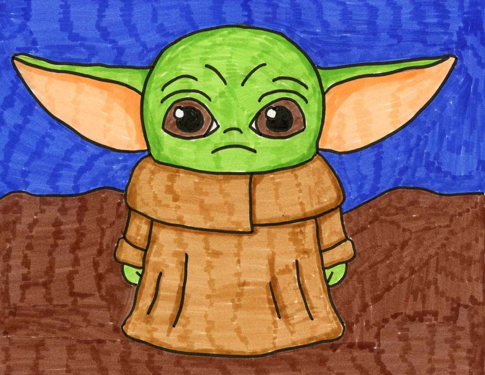 How To Draw Baby Yoda Art Projects For Kids Yoda Art Yoda Drawing Kids Art Projects