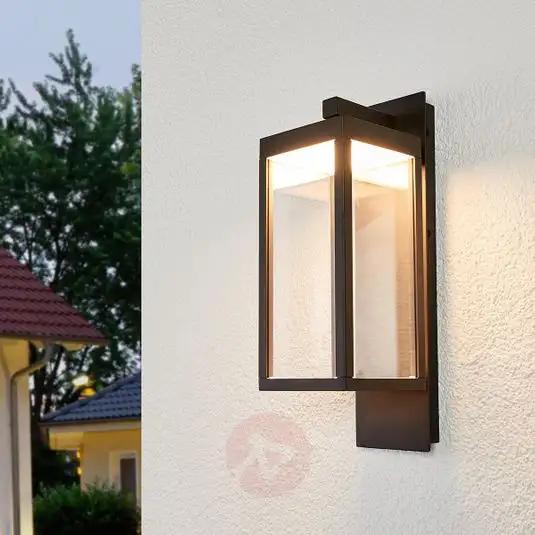 Lantern Shaped Led Outdoor Wall Light Ferdinand In 2020 Outdoor Wall Lighting Outdoor Wall Lamps Wall Lights