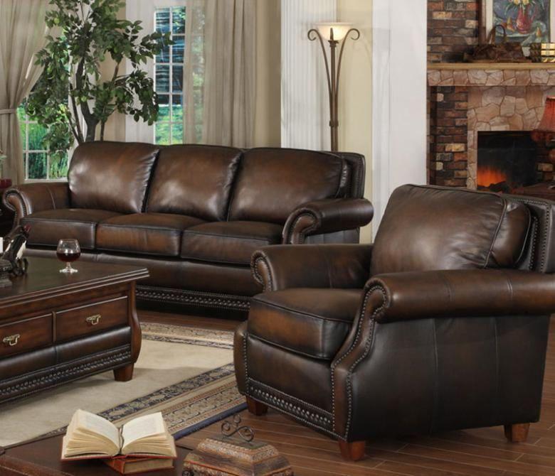 The Denver Leather Sofa Set   Decor   Leather sofa set, Sofa ...
