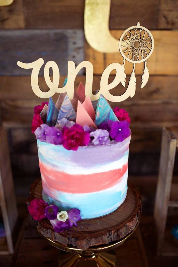 Boho Teepee 1st Birthday Party Boho Birthdays and Cake