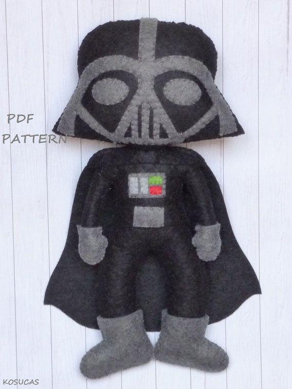 PDF pattern to make a felt Dark Vader | Spielzeug | Pinterest | Filz ...