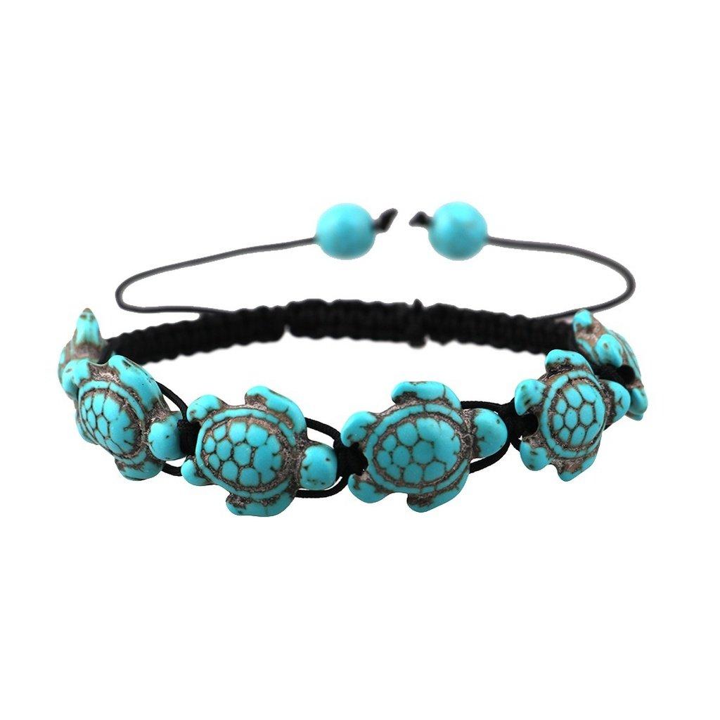 Bohemian Turquoise Turtle Bracelet Handmade Bracelet