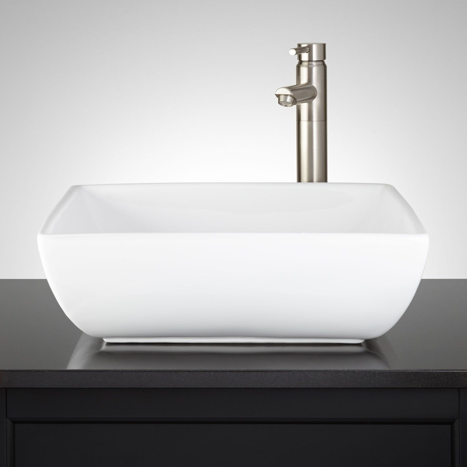 Aureliana Square Porcelain Vessel Sink  Bathroom Sinks  Bathroom