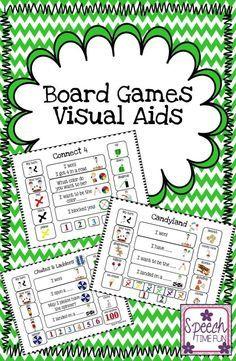 Speech Time Fun: Board Games Visual Aids for popular board games!