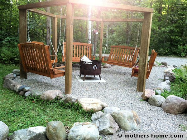 Swing Fire Pit Gazebo Plans Rectangle Fire Pit Build Out Of