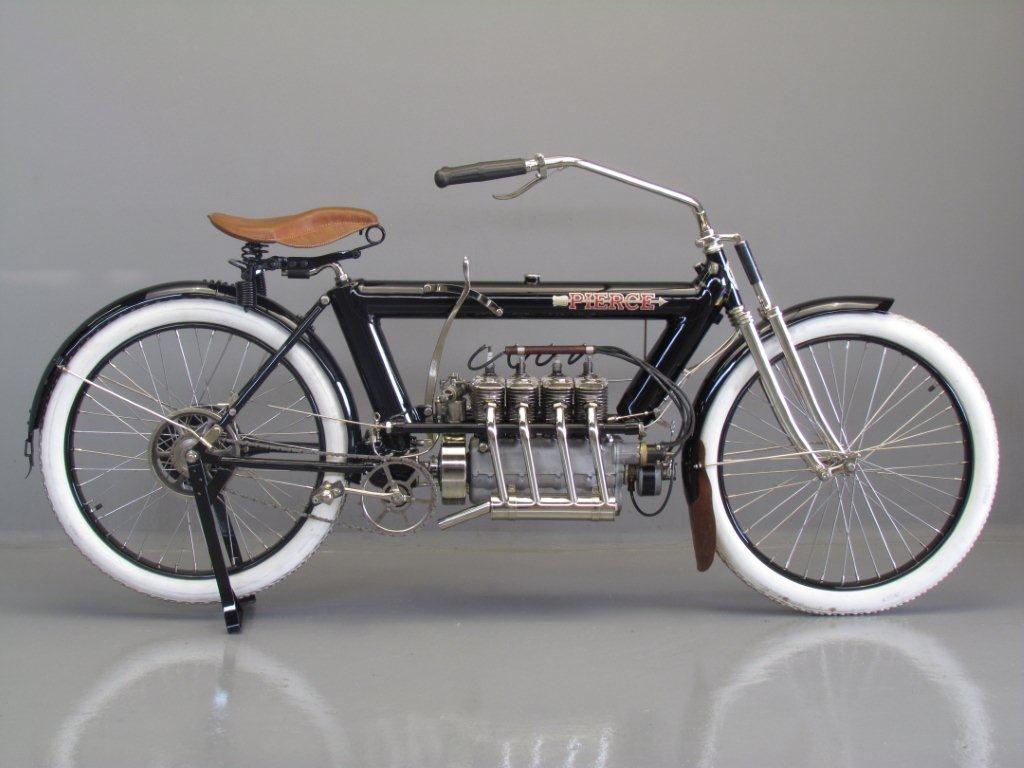 Pierce 1912 Four 688 Cc 4 Cyl Sv Classic Motorcycles Vintage Bikes Classic Bikes