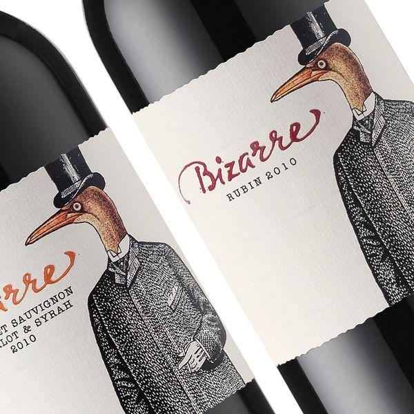 Bizarre Wines by the Labelmaker by Jordan Jelev, mobile 00359887323000, via Behance