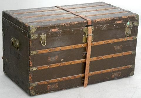 Antique Flat Top Trunk Photo Gallery