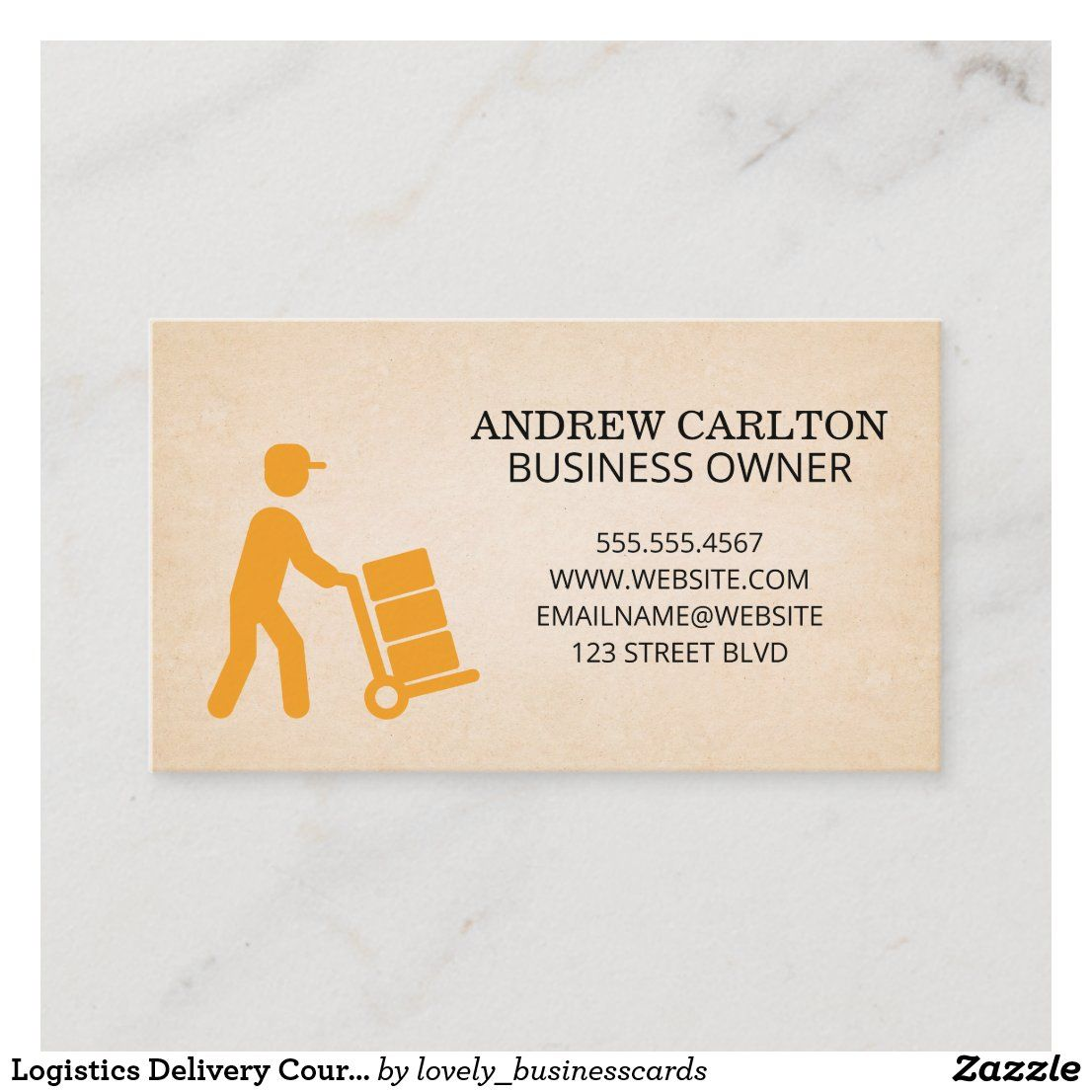 Logistics Delivery Courier Business Card Zazzle Com In 2021 Small Business Cards Professional Business Cards Business Card Design