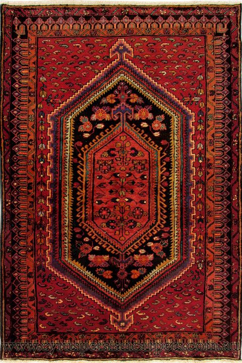 Zanjan Hand Knotted Wool Rug Size 210