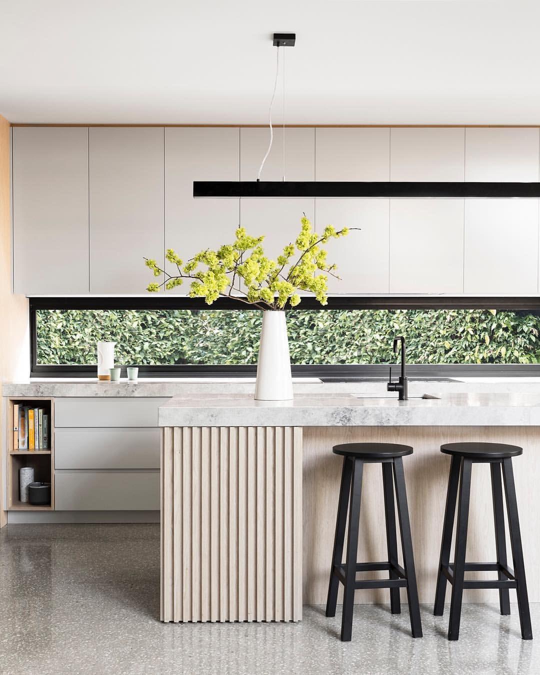 K che modern schlicht minimalistisch einrichten wohnen dekorieren interior design kochinsel holz - Minimalistisch dekorieren ...