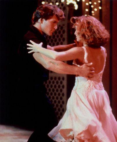 "Patrick Swayse & Jennifer Grey.  Scene from ""Dirty dancing""."