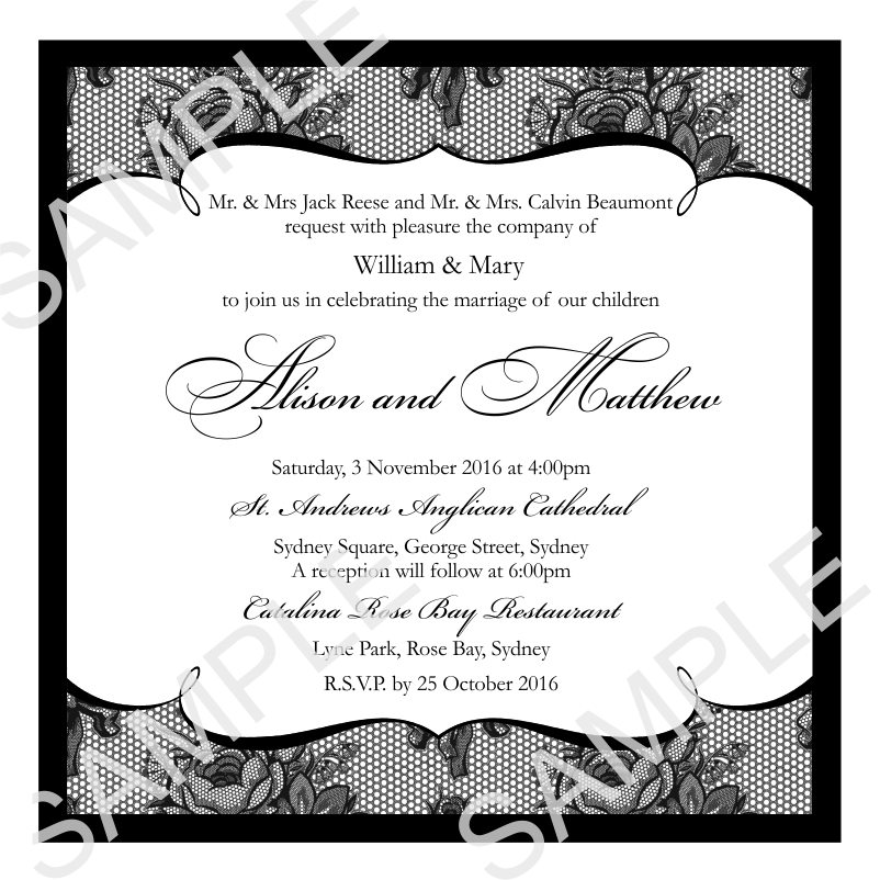 Wedding Invitations | French Classic Wedding Invitation ~ Print ...