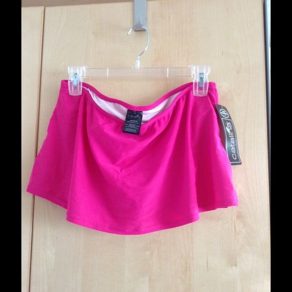 NWT Swimskirt - Catalina Hot pink NWT Swimskirt with attached panty. Catalina Swim