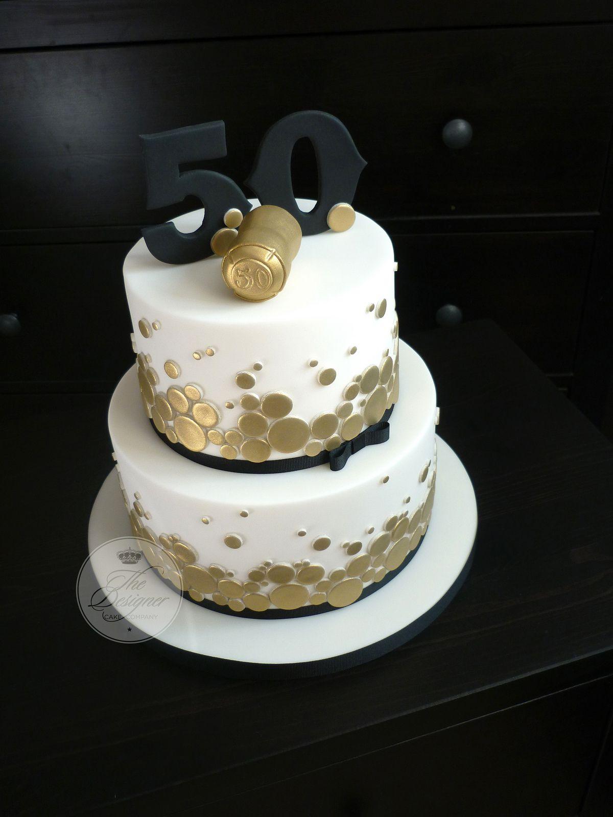 Champagne Themed 50th Birthday Cake Decoracion De Pasteles