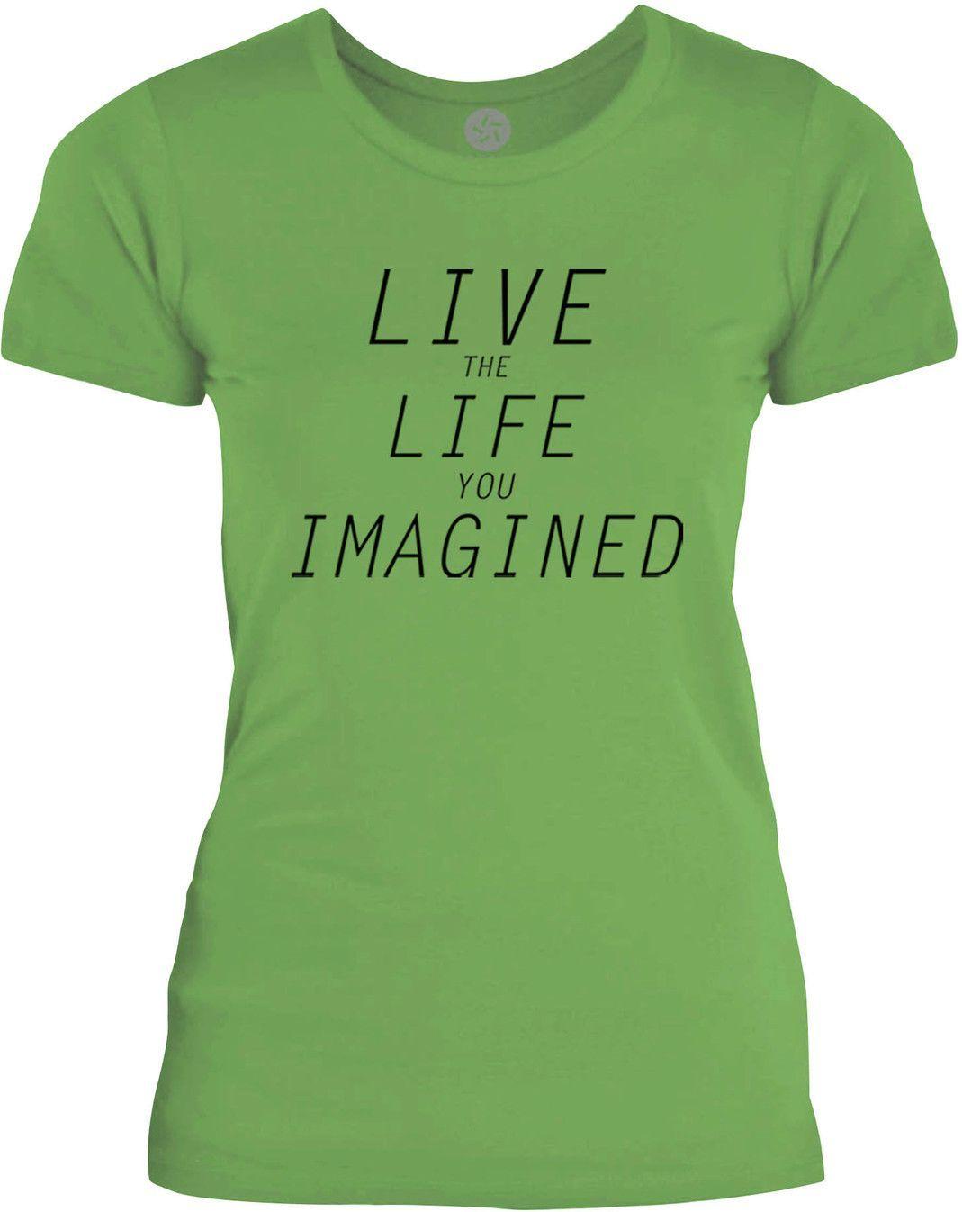 Big Texas Life You Imagined (Black) Womens Fine Jersey T-Shirt