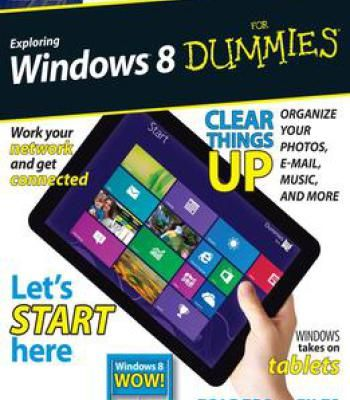 Exploring Windows 8 For Dummies Pdf Dummies Book Computer Technology Books