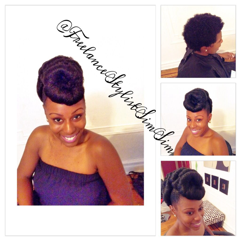 Natural Updo Hairstyle, protective hairstyle, faux locs,natural hair ...