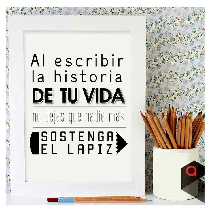 Escribir mi propia historia....