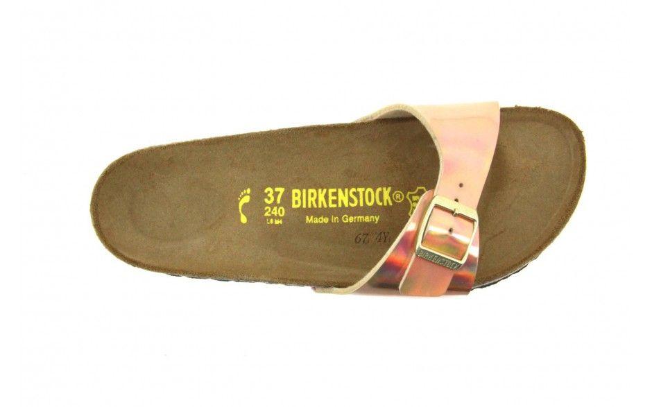 BIRKENSTOCK, Madrid Birko flor Schmal Pantoletten, gold