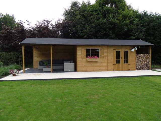 Klassiek houten tuinhuis - Abri de classique en bois Veranclassic - construire son garage en bois
