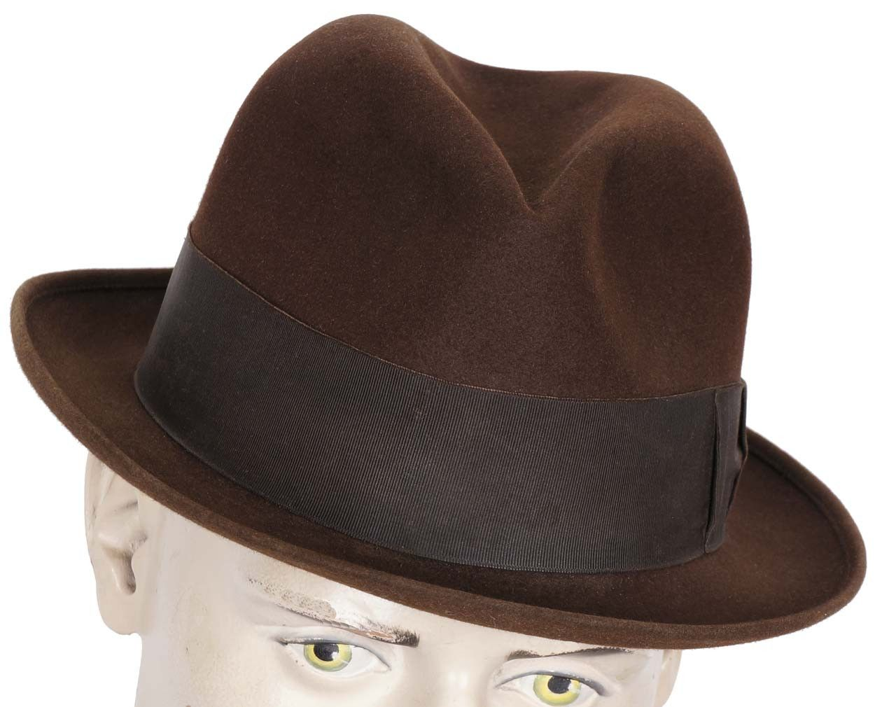 Vintage Borsalino Brown Fedora Hat Mens Size Large 7 1/4