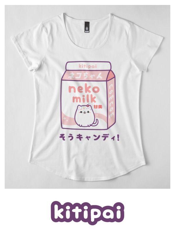288b8ce0 Japanese Cat Milk | Women's Premium T-Shirt | T-shirts | Japanese ...